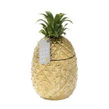 Eiskühler Ananas Gold mit Etikett