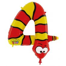 Folienballon Zahl 4 Schlange
