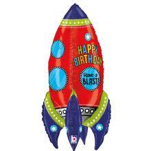 Ballon Rakete bunt