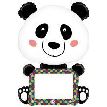 Folienballon Panda, beschreibbar