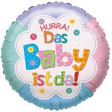 "Folienballon ""Hurra! Das Baby ist da!"""