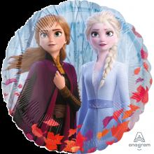Folienballon Anna und Elsa rund Vorderseite