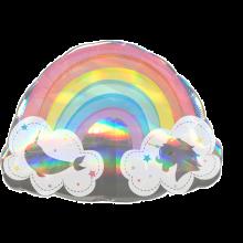 Folienballon Magischer Regenbogen holografisch
