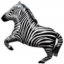 Folienballon Zebra