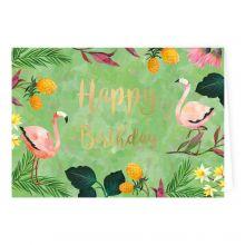"Geburtstagskarte ""Flamingo"""