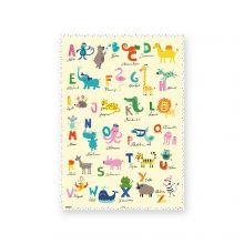 Geschenkpapier mit Tieren und ABC