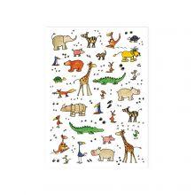 Geschenkpapier mit Tieren