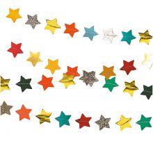 Girlande Sterne genäht