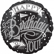 Folienballon Happy Birthday Chalkboard