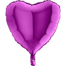 Folienballon Herz ultra violett