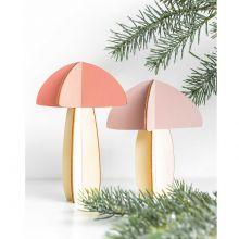 Holzdeko Pilze zum Stecken