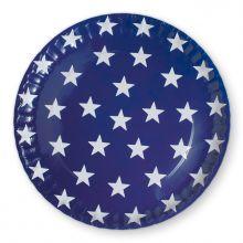 Pappteller Sterne blau
