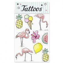 """Tattoos """"Tropical Flamingo"""""""
