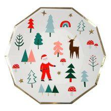 Meri Meri Weihnachtsteller Sante & Rudolph