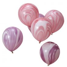 Ginger Ray pink-lila marmorierte Ballons