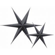 3D-Sterne glitzer silber