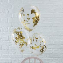 Ginger Ray Konfetti Ballons goldenes Konfetti