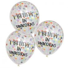 Ginger Ray Ballons I Believe In Unicorns Konfetti-Ballons