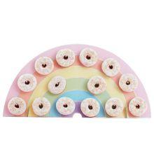 Ginger Ray Donut Board Regenbogen pastell