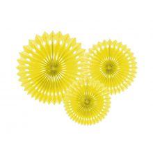Papier-Rosetten-Set gelb