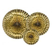 Rosetten-Pinwheels gold