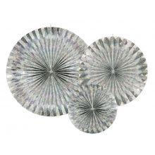 Rosetten_Pinwheels silber irisierend