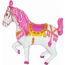 Folienballon Zirkuspferd pink