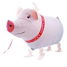 Folienballon Glücks-Schwein Airwalker