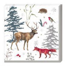 Serviette Weihnachtswald
