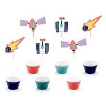 Cupcake-Kit Space Party