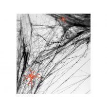 Spinnennetz schwarz mit orange-farbener Spinne