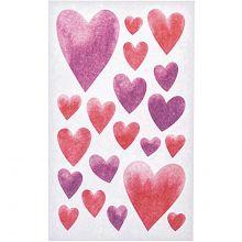 Blatt Herz-Sticker rot und pink