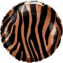 Folienballon Tiger-Muster rund