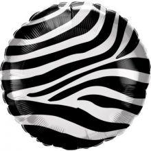 Folienballon Zebra-Muster rund