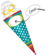 Folienballon Schultüte zum Beschriften