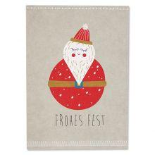 """Postkarte Weihnachtsmann """"Frohes Fest"""""""