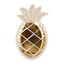 Pappteller Ananas Gold
