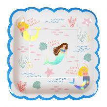 Pappteller -  Let's Be Mermaids