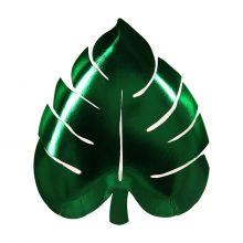 Pappteller Palmblatt Grün