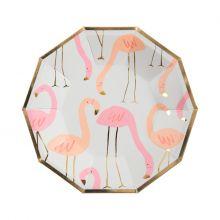 Pappteller Flamingo klein