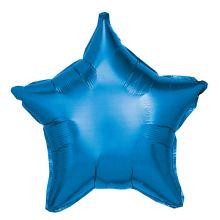 Folienballon Stern blau