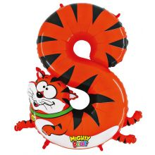 Folienballon Zahl 8 Katze
