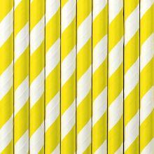Papier-Strohhalme gelb-weiss