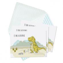 Einladungskarten Dinoparty