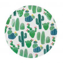Pappteller Kaktus