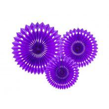 Papier-Rosetten-Set lila