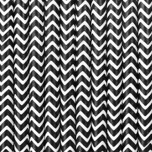 Papier-Strohhalme schwarz-weiss zickzack